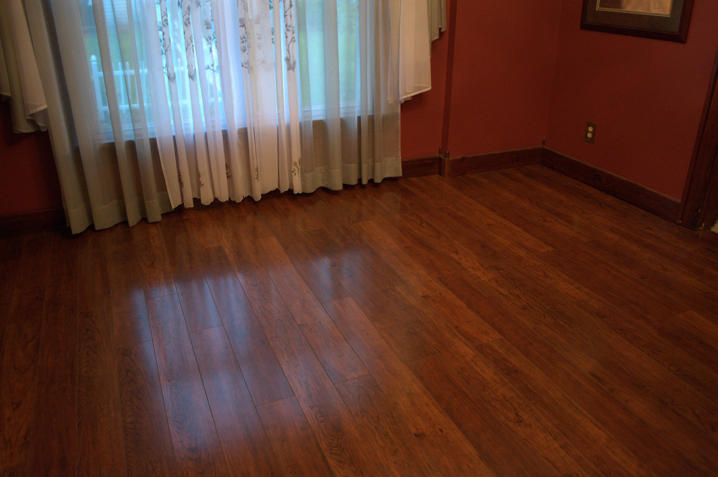 Extremely Durable Flooring : Finished swiftlock floor on top of old